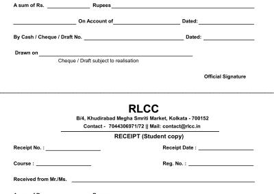 RLCC Bill Book