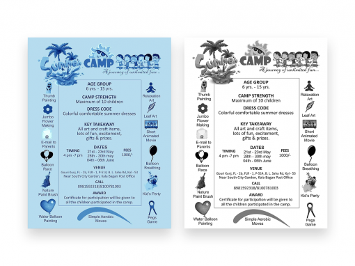 Summer Camp Leaflet Design